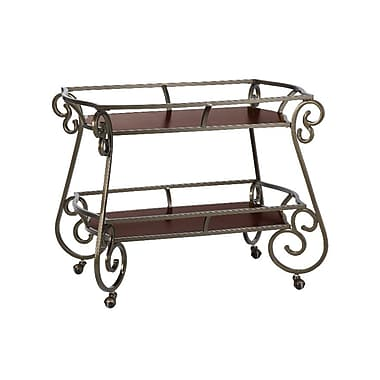 Powell® Bombay Avery Metal Tea Cart, Bronze