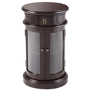 Powell® Bombay Varese 28in. x 17in. x 17in. Solid Wood Curio Table, Vintage Mahogany
