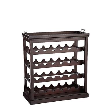 Powell® Bombay Davenport Solid Wood Open Wine Cabinet, Cognac