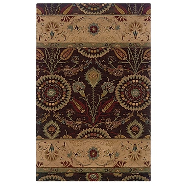 Powell® Bombay Kerala 5' x 8' Transitional Hand Tufted Rug, Brown