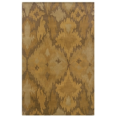 Powell® Bombay Goa 5' x 8' Ikat Hand Tufted Rug, Beige