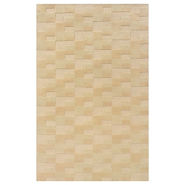Powell® Bombay Zuma 2' x 3' Geometric Block Hand Tufted Rug, Brown