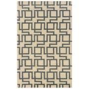 Powell® Bombay Channel 8' x 11' Interlocking Geometric Hand Tufted Rug, Ivory