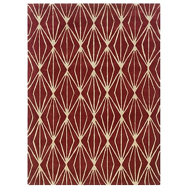 Powell® Bombay Entwine 8' x 11' Diamond Hand Tufted Rug, Rust