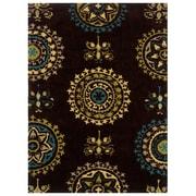 Powell® Bombay Suzani 5' x 8' Hand Tufted Rug, Brown