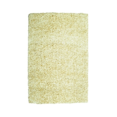 Powell® Bombay 2' x 3' Luxe Shag Hand Tufted Rug, Sand
