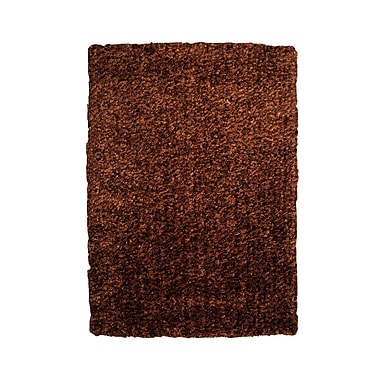 Powell® Bombay 5' x 7' Luxe Shag Hand Tufted Rug, Brown