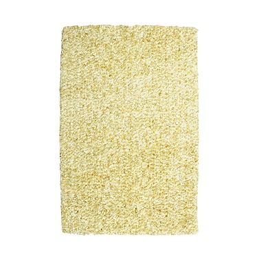 Powell® Bombay 2' x 3' Luxe Shag Hand Tufted Rug, Popcorn