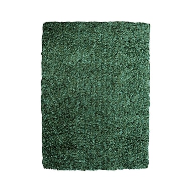 Powell® Bombay 2' x 3' Luxe Shag Hand Tufted Rug, Aquamarine