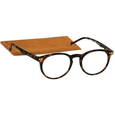 Peeperspecs® Brain Trust SpHg +1.25 Round Optic Reading Glasses, Tortoise