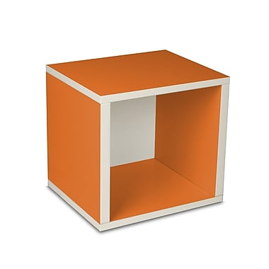 Way Basics zBoard Eco Friendly Modular Storage Cubes, Orange