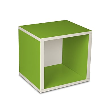 Way Basics zBoard Eco Friendly Modular Storage Cubes, Green