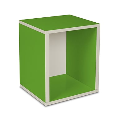 Way Basics zBoard Eco Friendly Modular Storage Cubes Plus, Green