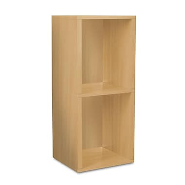 Way Basics zBoard Eco Friendly Double Cube Plus Storage Bookshelves, Natural