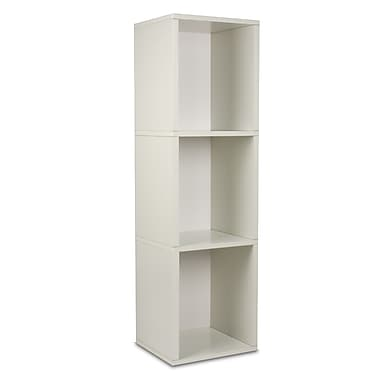 Way Basics zBoard Eco Friendly Triple Cube Plus Bookcases, White