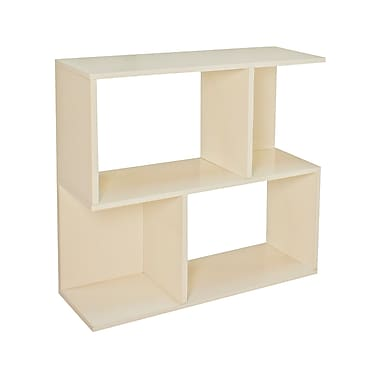 Way Basics zBoard Eco Friendly Soho Shelf Bookcases, White