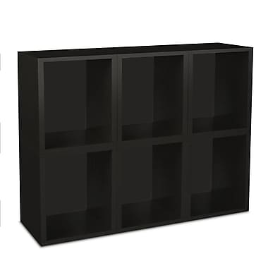 Way Basics zBoard Eco Friendly 6 Modular Cubes Plus Storage Cubes Plus Black