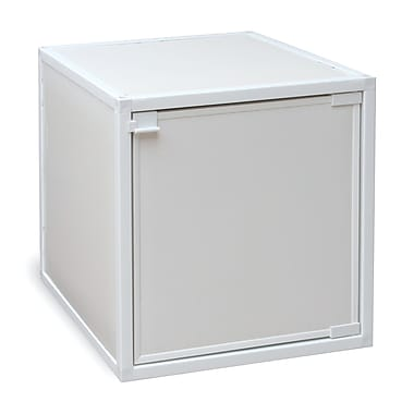 Way Basics Eco Friendly Stackable Box Storage Cubes, White
