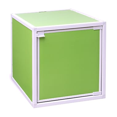 Way Basics Eco Friendly Stackable Box Storage Cubes, Green
