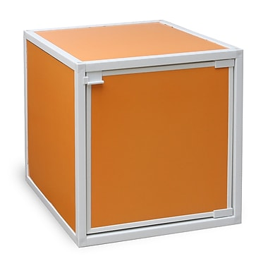 Way Basics Eco Friendly Stackable Box Storage Cubes, Orange
