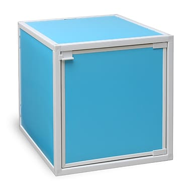 Way Basics Eco Friendly Stackable Box Storage Cubes, Blue