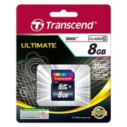 Transcend® Ultimate 8GB SDHC (Secure Digital High-Capacity) Class 10 Flash Memory Card