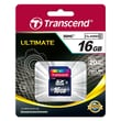 Transcend® Ultimate 16GB SDHC (Secure Digital High-Capacity) Class 10 Flash Memory Card