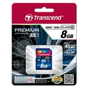 Transcend® Premium 8GB SDHC (Secure Digital High-Capacity) Card Class 10 (UHS-I) Flash Memory Card