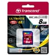 Transcend® Ultimate 8GB SDHC (Secure Digital High-Capacity) Class 10 (UHS-I) Flash Memory Card