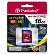 Transcend® Ultimate 16GB SDHC (Secure Digital High-Capacity) Class 10 (UHS-I) Flash Memory Card
