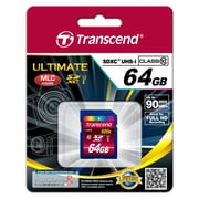 Transcend® Ultimate 64GB SDXC (Secure Digital Xtended-Capacity) Class 10 (UHS-I) Flash Memory Card