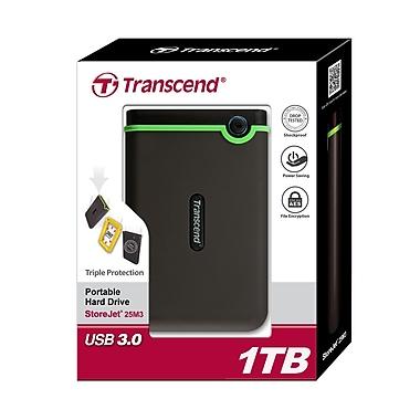 Transcend® StoreJet® 25M3 1TB USB 2.0/3.0 External Hard Drive, Black