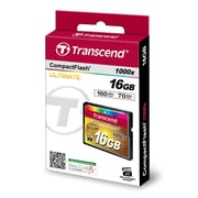 Transcend® Ultimate 16GB CF (CompactFlash) 1000x Flash Memory Card