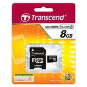 Transcend® High Speed 8GB microSDHC (Micro Secure Digital High-Capacity) Class 4 Flash Memory Card
