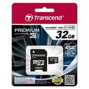 Transcend® Premium 32GB microSDHC (Micro Secure Digital High-Capacity) Class 10 Flash Memory Card