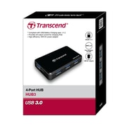 Transcend® HUB3 AC powered USB Hub, 4 ports with fast charging port for iPhone, iPad, iPod