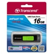 Transcend® 760 16GB USB 3.0 USB JetFlash Drive, Black/Green