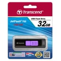Transcend® 760 32GB USB 3.0 USB JetFlash Drive, Black/Purple