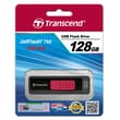 Transcend® 760 128GB USB 3.0 USB JetFlash Drive, Black/Red