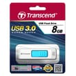 Transcend® 770 8GB USB 3.0 USB JetFlash Drive, White/Light Blue