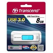 Transcend® 770 8GB USB 3.0 USB JetFlash Drive, White/Light Blue