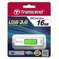Transcend® 770 16GB USB 3.0 USB JetFlash Drive, White/Green