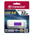 Transcend® 770 32GB USB 3.0 USB JetFlash Drive, White/Purple