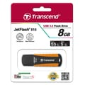 Transcend® 810 8GB USB 3.0 USB JetFlash Drive, Black/Orange