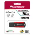 Transcend® 810 16GB USB 3.0 USB JetFlash Drive, Black/Red