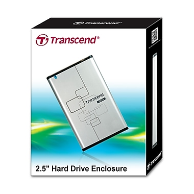 Transcend® StoreJet® 2.5in. SATA USB 2.0 External Hard Drive Enclosure, 500GB