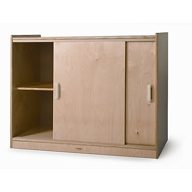 Whitney Brothers Sliding Doors Storage Cabinet, 32in.(H)