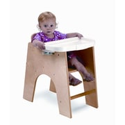 Whitney Brothers NewWave Low High Chair, Light Wood