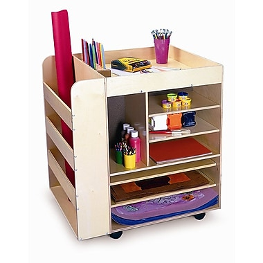 Whitney Brothers Mobile Art Supply Unit, Natural