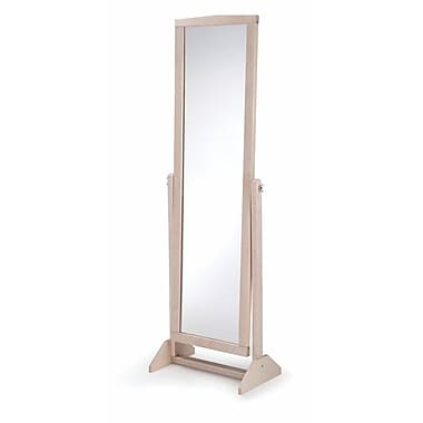 Whitney Brothers Distortion Free Cheval Mirror, Natural